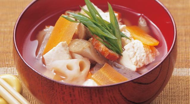 野菜が沢山食べられてカロリーが低いけんちん汁はダイエットに最適!のサムネイル画像
